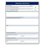 Permit to work & Handback Cert