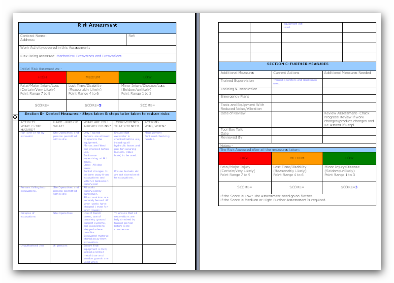Awesome ohs risk assessment template component wordpress for Workplace violence and harassment risk assessment template
